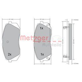 2013 Kia Sportage Mk3 1.7 CRDi Brake Pad Set, disc brake 1170186