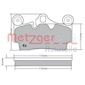 METZGER Bremsbelagsatz, Scheibenbremse 1170191 für AUDI Q7 (4L) 3.0 TDI ab Baujahr 11.2007, 240 PS