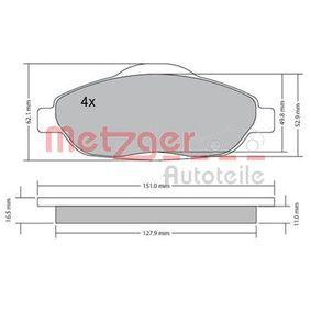 2016 Peugeot 3008 Mk1 1.6 BlueHDi 120 Brake Pad Set, disc brake 1170194