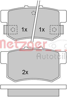 Brake Pads 1170213 METZGER 21721 original quality