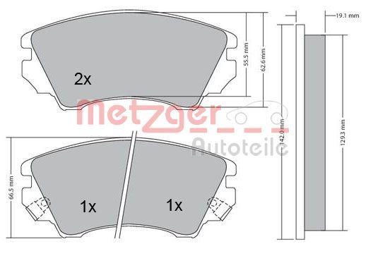 Brake Pads 1170221 METZGER 24414 original quality
