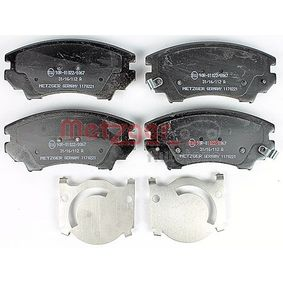 Brake Pad Set, disc brake Width: 141,3mm, Height: 66,5mm, Thickness 1: 19mm, Thickness 2: 19,5mm with OEM Number 1323 7751
