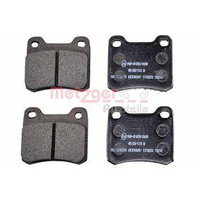 Bremsbelagsatz, Scheibenbremse Höhe: 54,3mm, Dicke/Stärke: 13,5mm mit OEM-Nummer 001 420 0120