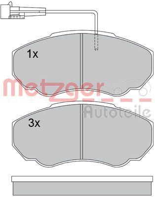 Brake Pads 1170227 METZGER 23918 original quality