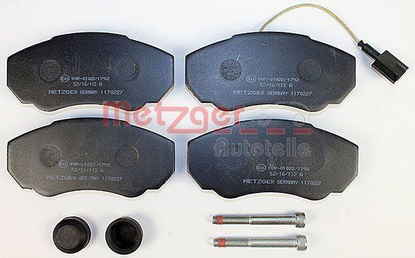 Disk brake pads METZGER 23917 rating