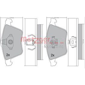 Комплект спирачно феродо, дискови спирачки ширина 1: 155,2мм, ширина 2: 156,3мм, височина: 72,8мм, дебелина: 18,2мм с ОЕМ-номер 23912