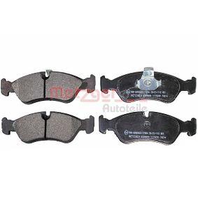 Bremsbelagsatz, Scheibenbremse Breite: 156,4mm, Höhe: 52,8mm, Dicke/Stärke: 18mm mit OEM-Nummer 16.05.808