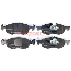 Bremsbelagsatz, Scheibenbremse Höhe: 52,5mm, Dicke/Stärke: 17,5mm mit OEM-Nummer 9948870