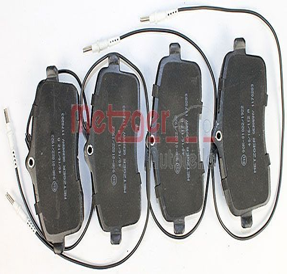 Bremsbeläge 1170283 METZGER 24134 in Original Qualität