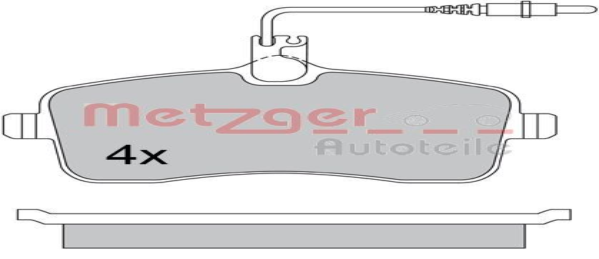 Bremsklötze METZGER 24134 4250032669737