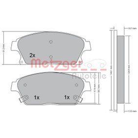 Bremsbelagsatz, Scheibenbremse Höhe: 61,1mm, Dicke/Stärke: 18,8mm mit OEM-Nummer 16 05 135