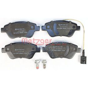 Cuerpo de Mariposa FIAT STILO (192) 1.4 16V de Año 01.2004 95 CV: Juego de pastillas de freno (1170296) para de METZGER