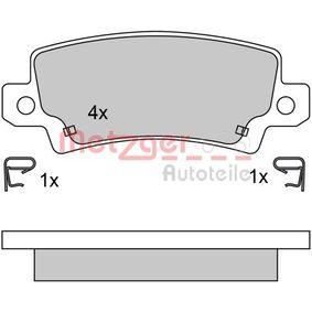 Bremsbelagsatz, Scheibenbremse Höhe: 37,8mm, Dicke/Stärke: 15,5mm mit OEM-Nummer 4466-02020