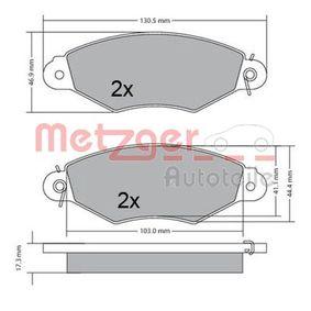 Bremsbelagsatz, Scheibenbremse Höhe: 47mm, Dicke/Stärke: 18mm mit OEM-Nummer 42.5205