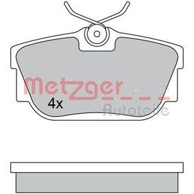 Bremsbelagsatz, Scheibenbremse Breite: 94,9mm, Höhe: 51mm, Dicke/Stärke: 16,2mm mit OEM-Nummer 7D0 698 451