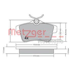 2014 Peugeot 3008 Mk1 1.6 BlueHDi 115 Brake Pad Set, disc brake 1170335