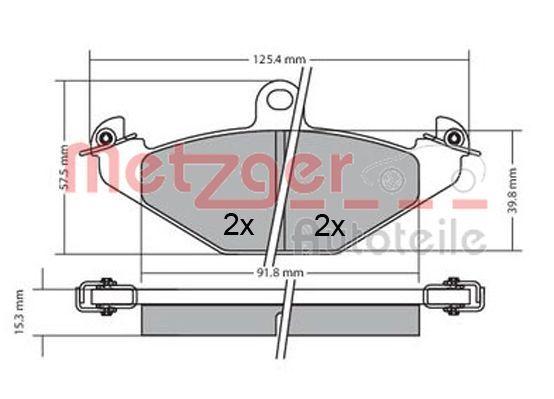 Bremsbeläge 1170362 METZGER 20423 in Original Qualität