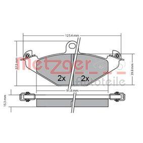 Bremsbelagsatz, Scheibenbremse Breite: 125mm, Höhe: 58,4mm, Dicke/Stärke: 14,5mm mit OEM-Nummer 7701203 124
