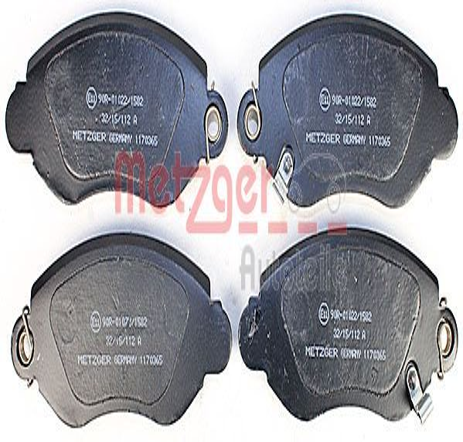 Bremsbeläge 1170365 METZGER 23580 in Original Qualität