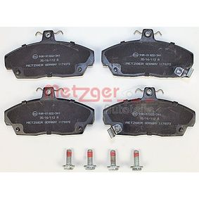 Brake Pad Set, disc brake Width: 129,2mm, Height: 68,5mm, Thickness: 17,3mm with OEM Number 45022-SK3-E00