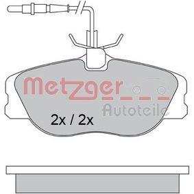 Kit pastiglie freno, Freno a disco (1170386) per per Lampadina Luce Posteriore di Stop FIAT SCUDO Furgonato (220L) 2.0 JTD 16V dal Anno 05.1999 109 CV di METZGER