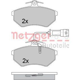 METZGER Bremsbelagsatz, Scheibenbremse 1170412 für AUDI 90 (89, 89Q, 8A, B3) 2.2 E quattro ab Baujahr 04.1987, 136 PS