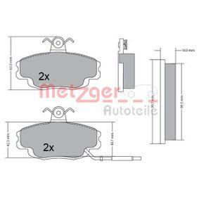 Bremsbelagsatz, Scheibenbremse Breite: 99,9mm, Höhe: 61,4mm, Dicke/Stärke: 18mm mit OEM-Nummer 7701 202 289