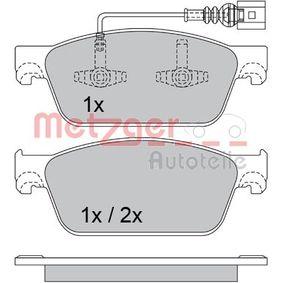 Bremsbelagsatz, Scheibenbremse Breite: 193,1mm, Höhe: 75mm, Dicke/Stärke: 18,1mm mit OEM-Nummer 7E0.698.151