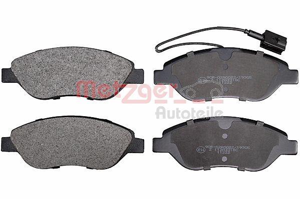 METZGER  1170505 Bremsbelagsatz, Scheibenbremse Höhe: 57,3mm, Dicke/Stärke: 19,1mm