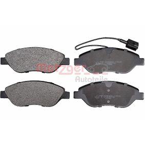 Bremsbelagsatz, Scheibenbremse Höhe: 57,3mm, Dicke/Stärke: 19,1mm mit OEM-Nummer 9 949 279