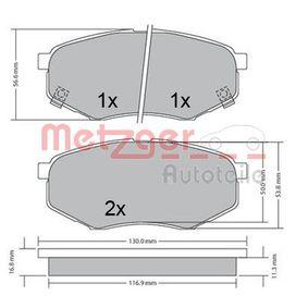 Bremsbelagsatz, Scheibenbremse Breite: 130mm, Höhe: 56,5mm, Dicke/Stärke 1: 17,8mm, Dicke/Stärke 2: 18,3mm mit OEM-Nummer 58101-25A00