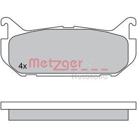 Bremsbelagsatz, Scheibenbremse Breite: 100mm, Höhe: 43,5mm, Dicke/Stärke: 13,5mm mit OEM-Nummer G5Y5-26-43Z
