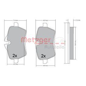 Bremsbelagsatz, Scheibenbremse Breite: 131,3mm, Höhe 1: 63,8mm, Höhe 2: 71,1mm, Dicke/Stärke: 17,4mm mit OEM-Nummer 3411 6 778 320