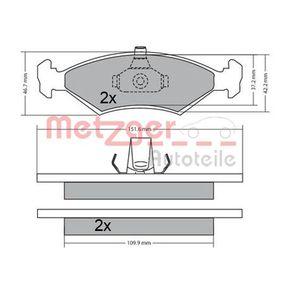Bremsbelagsatz, Scheibenbremse Höhe: 46,1mm, Dicke/Stärke: 18mm mit OEM-Nummer 1010503