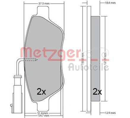 Bremsbeläge 1170615 METZGER 23712 in Original Qualität