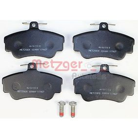 Brake Pad Set, disc brake Width: 109,9mm, Height: 67,5mm, Thickness: 17,25mm with OEM Number 3 344 787