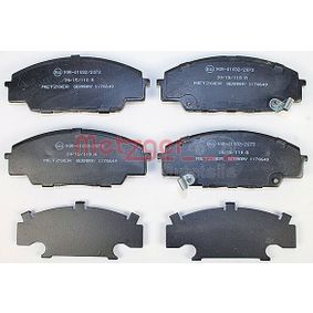 Brake Pad Set, disc brake Width: 135,1mm, Height: 52,2mm, Thickness 1: 17mm, Thickness 2: 17,5mm with OEM Number 06450S5TE00