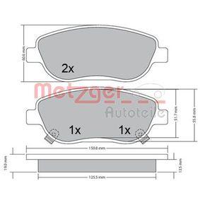 Bremsbelagsatz, Scheibenbremse Höhe: 61,1mm, Dicke/Stärke: 18,5mm mit OEM-Nummer 249.46