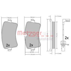 Kit de plaquettes de frein, frein à disque Hauteur 1: 59,1mm, Hauteur 2: 60,1mm, Épaisseur: 17,2mm avec OEM numéro 4H0.698.451A