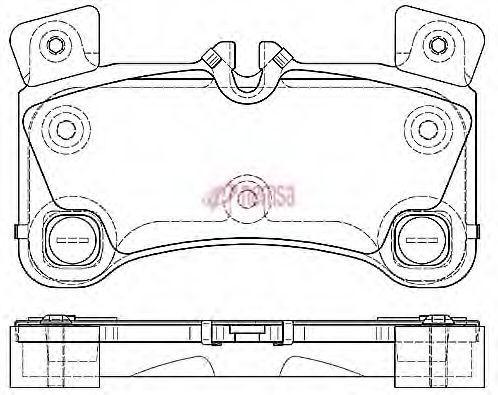 METZGER  1170775 Bremsbelagsatz, Scheibenbremse Höhe: 77mm, Dicke/Stärke: 16,2mm