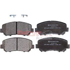 Bremsbelagsatz, Scheibenbremse Höhe: 61,2mm, Dicke/Stärke: 15,8mm mit OEM-Nummer 68225170AA