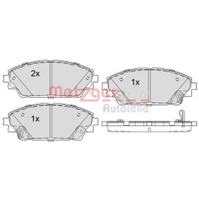 Brake Pad Set, disc brake Article № 1170800 £ 140,00