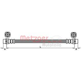 Latiguillos de Freno BMW X5 (E70) 3.0 d de Año 02.2007 235 CV: Tubo flexible de frenos (4110952) para de METZGER