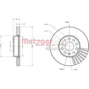 Bremsscheibe Bremsscheibendicke: 25mm, Lochanzahl: 5, Ø: 288mm mit OEM-Nummer JZW615301J