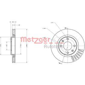 Bremsscheibe Bremsscheibendicke: 22mm, Lochanzahl: 4, Ø: 266,2mm mit OEM-Nummer 4249.G1