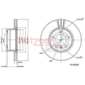 Bremsscheibe Bremsscheibendicke: 21,9mm, Lochanzahl: 5, Ø: 295,7mm mit OEM-Nummer 34 11 1 164 839