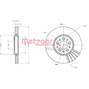Bremsscheibe Bremsscheibendicke: 25mm, Lochanzahl: 5, Ø: 287,8mm mit OEM-Nummer JZW 615 301 D