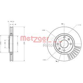 Bremsscheibe Bremsscheibendicke: 26mm, Lochanzahl: 4, Ø: 283mm mit OEM-Nummer 424917