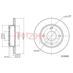 METZGER Спирачни дискове предна ос, плътен, Кръстообразен срез, с покритие