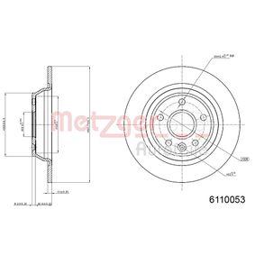 Bremsscheibe Bremsscheibendicke: 10,9mm, Lochanzahl: 5, Ø: 301,8mm mit OEM-Nummer LR-027123